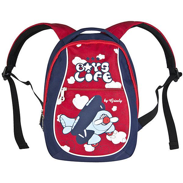 Детский рюкзак Grizzly, синий/красныйДетские рюкзаки<br>Характеристики:<br><br>• возраст от: 5 лет;<br>• цвет: синий/красный;<br>• материал: ПВХ (поливинилхлорид), таслан;<br>• размер рюкзака: 23х32х15 см.;<br>• объем рюкзака: маленький (до 20 л.);<br>• вес рюкзака: 250 гр.;<br>• тип рюкзака: повседневный;<br>• ососбенности: Светоотражающие вставки;<br>• спинка: анатомическая;<br>• тип застёжки: молния;<br>• количество отделений: 1 отделения;<br>• количество карманов: 1 внутренний;<br>• дополнительная ручка-петля;<br>• износостойкая обивка;<br>• регулируемые укрепленные лямки;<br>• стильный дизайн;<br>• бренд, страна бренда: Grizzly, Россия.<br><br>Рюкзак Grizzly для мальчика содержит одно вместительное отделение, закрывающееся на застежку-молнию с двумя бегунками. На лицевой стороне расположен вертикальный карман на молнии. Ручка-петля предназначена для удобной переноски в руке или подвешивания на крючок. У рюкзака укрепленная спинка и мягкие регулируемые лямки. Светоотражающие элементы не оставят незамеченным вашего ребенка в темное время суток.<br><br>Такой яркий и легкий рюкзак порадует глаз и подарит отличное настроение вашему ребенку, который будет с удовольствием носить в нем свои вещи или любимые игрушки.<br><br>Детский рюкзак Grizzly, синий/красный, можно купить в нашем интернет-магазине.<br>Ширина мм: 230; Глубина мм: 40; Высота мм: 320; Вес г: 253; Цвет: синий; Возраст от месяцев: 120; Возраст до месяцев: 2147483647; Пол: Унисекс; Возраст: Детский; SKU: 8339132;