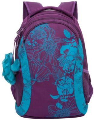 Рюкзак Grizzly, фиолетовый/бирюза, артикул:8339144 - Школьные рюкзаки и ранцы