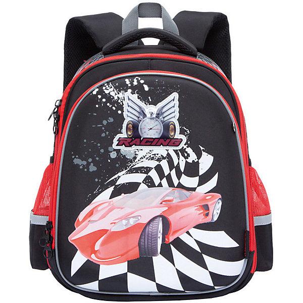 Grizzly Рюкзак школьный Grizzly, чёрный рюкзак детский grizzly grizzly ранец школьный little girls розовый