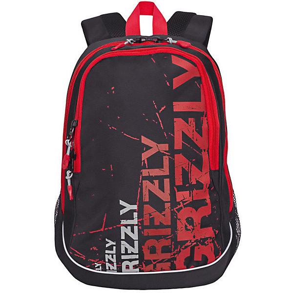 Купить Рюкзак Grizzly, чёрный/красный, Россия, черный/розовый, Мужской