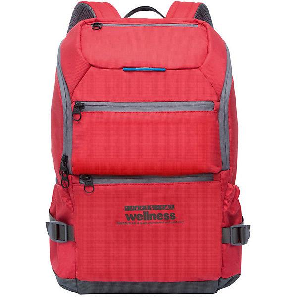 Grizzly Рюкзак Grizzly, красный/серый рюкзак городской мужской grizzly цвет черный серый желтый ru 713 2 4
