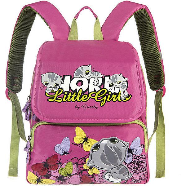 Купить Рюкзак школьный Grizzly, жимолость, Китай, зеленый, Женский