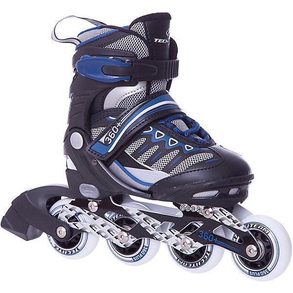 Роликовые коньки 360+ (размер 35-38) синиеРолики<br>Характеристики товара:<br><br>• возраст: от 8 лет;<br>• ботинок: внутренний ботинок съемный<br>• ботинок: раздвижной;<br>• внешний ботинок: ткань;<br>• подкладка: синтетика;<br>• стелька: синтетика;<br>• колеса: диаметр 64 мм.;<br>• подшипники: ABEC 5;<br>• рама: материал алюминий;<br>• размер упаковки: 46х37х12 см.;<br>• вес: 2,0 кг.;<br>• упаковка: картонная коробка.<br><br>С удобными роликовыми коньками вашим деткам будет очень просто и комфортно начинать свой путь роллера. <br><br>Легкий и удобный ботинок доставляет удовольствие на протяжении всей прогулки. <br><br>Особо важно, что элементы фиксации обладают повышенной прочностью - это обеспечивает ребёнку надёжное катание. <br><br>Поскольку ботинок раздвигается, ребёнку будет комфортно кататься не один сезон. <br><br>Роликовые коньки 360+ можно купить в нашем интернет-магазине.<br>Ширина мм: 370; Глубина мм: 120; Высота мм: 460; Вес г: 2000; Цвет: синий; Возраст от месяцев: 108; Возраст до месяцев: 96; Пол: Мужской; Возраст: Детский; Размер: 31-34,35-38; SKU: 8340677;