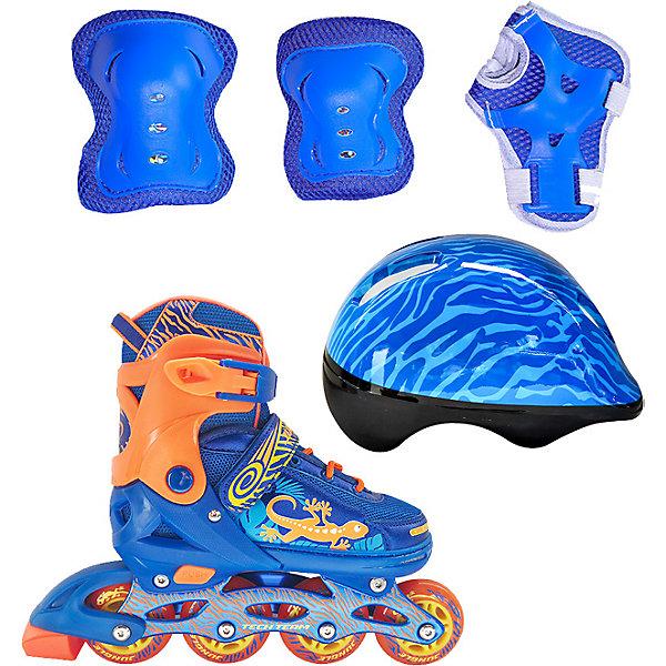 Tech Team Набор: роликовые коньки, защита, шлем Jungle Set, синие