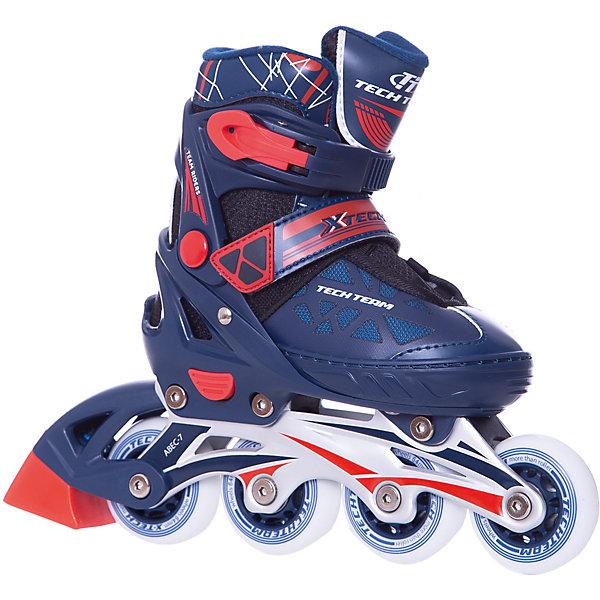 Роликовые коньки  X-Tech (размер 33-36) синиеРолики<br>Характеристики товара:<br><br>• возраст: от 5 лет;<br>• рама легкая и прочная: алюминиевая; <br>• ботинок: профессиональный полумягкий;<br>• колёса: из износостойкого полиуретана;<br>• внутренний ботинок: несъемный;<br>• внешний ботинок: ткань;<br>• застежка: шнурки и 2 бакли;<br>• подкладка: синтетика;<br>• стелька: синтетика;<br>• колеса: диаметр 64 мм.;<br>• подшипники: ABEC 7 CHROME;<br>• рама: материал алюминий;<br>• размер: 29-32 см.;<br>• размер упаковки: 46х37х12 см.;<br>• вес: 2,0 кг.;<br>• упаковка: картонная коробка.<br><br>Современный дизайн этих роликов покоряет своего владельца и всех окружающих с первой минуты: всему «виной» - уникальные и неповторимые цветовые решения. <br><br>Легкие практичные ролики являются одновременно очень прочными, а потому и надежными, поэтому такой вид транспорта будет долго радовать своего водителя. <br><br>Роликовые коньки  X-Tech можно купить в нашем интернет-магазине.<br>Ширина мм: 370; Глубина мм: 120; Высота мм: 460; Вес г: 2000; Цвет: синий; Возраст от месяцев: 84; Возраст до месяцев: 60; Пол: Мужской; Возраст: Детский; Размер: 29-32,33-36; SKU: 8340681;