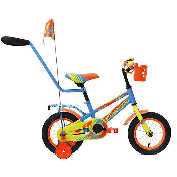 Forward Двухколёсный велосипед Forward Meteor 12, голубой/зеленый