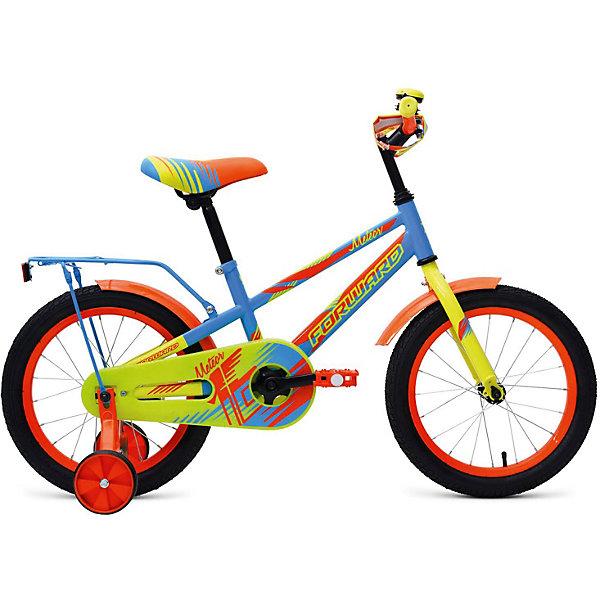 Forward Двухколёсный велосипед Forward Meteor 16, голубой/зеленый велосипед forward 1232 2013