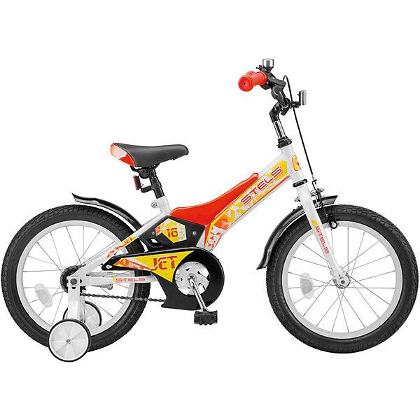 цена на Stels Двухколесный велосипед Stels Jet 16 дюймов 9 дюймов, белый/