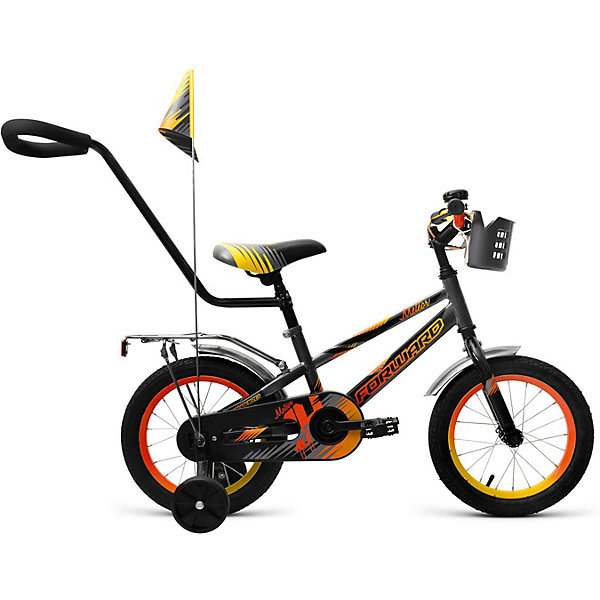 Двухколёсный велосипед Forward Meteor 14, серыйВелосипеды и аксессуары<br>Характеристики товара:<br><br>• возраст: от 3 лет;<br>• материал рамы: сталь;<br>• тормоз: ножной педальный;<br>• диаметр колёс: 14 см.;<br>• задний: тормоз ножной;<br>• вес: 12,7 кг.;<br>• размер упаковки: 91х20х49 см.<br><br>Велосипед Forward Meteor 14 (2018) серый это удобное транспортное средство для самых маленьких велосипедистов. <br><br>Яркая расцветка и дизайн привлекут малыша, а продуманность и надежность конструкции удовлетворят даже самых требовательных родителей.<br><br>Велосипед подходит для прогулок по городу или за городом и для комфортной посадки можно отрегулировать высоту сиденья и руля.<br><br>Роботизированная сварка стальной рамы обеспечивает высокую точность и прочность.<br><br>Детский велосипед Forward Meteor 14 (2018) можно купить в нашем интернет-магазине.<br>Ширина мм: 910; Глубина мм: 200; Высота мм: 490; Вес г: 12700; Цвет: серый; Возраст от месяцев: 36; Возраст до месяцев: 60; Пол: Унисекс; Возраст: Детский; SKU: 8341771;
