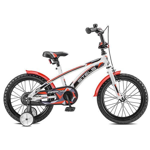 Stels Двухколесный велосипед Stels Arrow 16 дюймов V020 9.5 дюймов, белый/