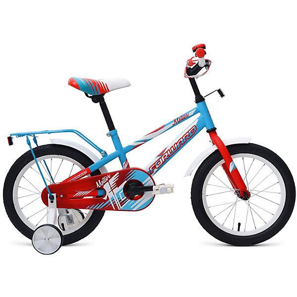 Forward Двухколёсный велосипед Forward Meteor 16, бирюзовый/красный