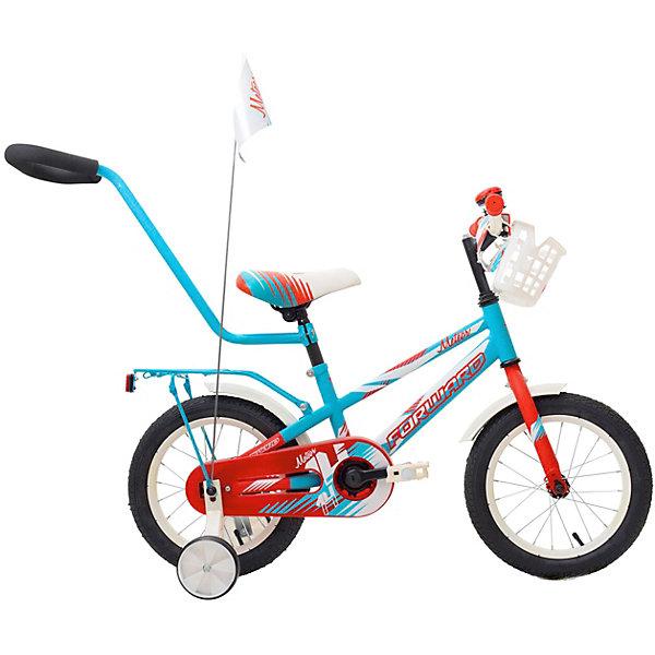 Forward Двухколёсный велосипед Forward Meteor 14, бирюзовый/красный
