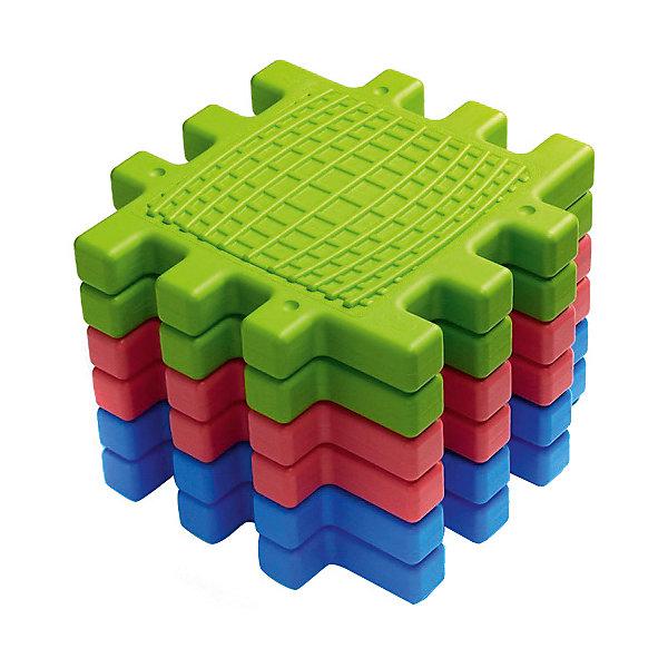 Тактильный куб WePlay, 6 панелейДомики<br>Характеристики товара:<br><br>• возраст: от 6 месяцев;<br>• материал: пластик;<br>• в комплекте: 6 панелей;<br>• размер одного элемента: 40х40х3 см;<br>• размер упаковки: 42х42х32 см;<br>• вес упаковки: 5,76 кг.<br><br>Тактильный куб WePlay состоит из 6 разноцветных панелей с рифленой поверхностью. Все панели соединяются между собой по принципу пазла, поэтому из них можно постоить большой куб, столик, стул, разложить на полу дорожку или коврик для игр. <br><br>Игрушка способствует развитию сенсорики, тактильных ощущений, поможет малышу выучить цвета. Передвигаясь по дорожке, ребенок массажирует ножки благодаря рифленым поверхностям. Элементы выполнены из качественного безопасного пластика.<br><br>Тактильный куб WePlay можно приобрести в нашем интернет-магазине.<br>Ширина мм: 320; Глубина мм: 420; Высота мм: 420; Вес г: 5760; Возраст от месяцев: 6; Возраст до месяцев: 2147483647; Пол: Унисекс; Возраст: Детский; SKU: 8344428;