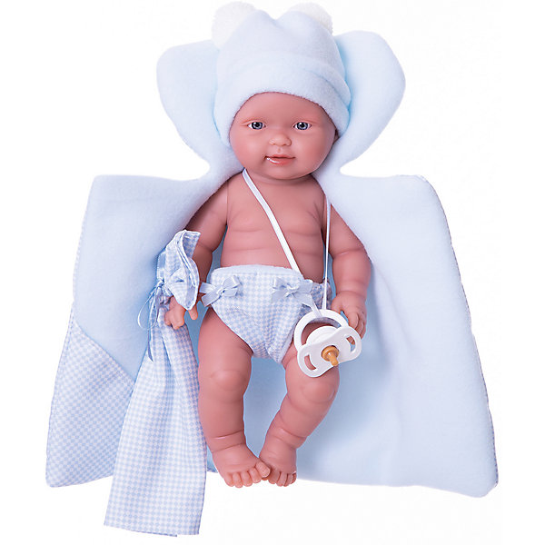 Купить Кукла-пупс Llorens Бэбито Селесте с одеялом, 26 см, Испания, синий, Женский