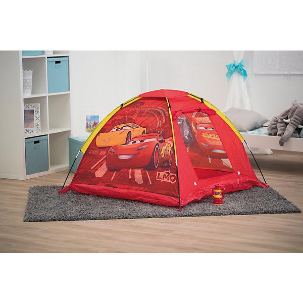 Палатка с фонарем John Тачки, краснаяИгровые палатки<br>Характеристика:<br><br>• материал: полиэстер<br>• в комплекте: палатка, чехол, фонарь<br>• размер палатки: 120х120х87 см<br>• страна бренда: Германия<br><br>Яркая автоматическая палатка с изображениями героев популярного мультфильма легко складывается и раскладывается. Для того, чтобы разложить изделие, необходимо достать его из чехла и расправить. Отличительными особенностями являются наличие фонаря со светодиодной подсветкой, который можно закрепить внутри палатки по всему периметру, а также то, что изображения персонажей располагаются не только на внешних стенках, но и на внутренних. Благодаря материалу, из которого сделано изделие, оно защищено от попадания влаги, а также от проникновения ветра и прямых солнечных лучей. Палатка легка в транспортировке, не занимает много места в сложенном состоянии. Ее можно размещать как в доме, так и на улице в теплое время года. Батарейки для фонаря не входят в комплект.