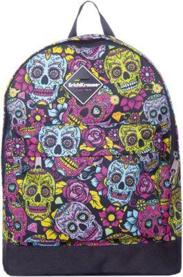 Рюкзак ErichKrause «EasyLine», Funny Skulls, 17 литров, артикул:8348502 - Школьные рюкзаки и ранцы