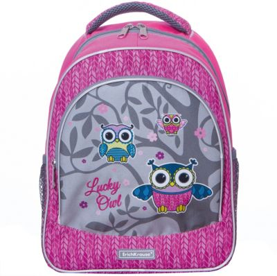 Рюкзак ErichKrause «ErgoLine», Lucky Owl, 14 литров, артикул:8348552 - Школьные рюкзаки и ранцы