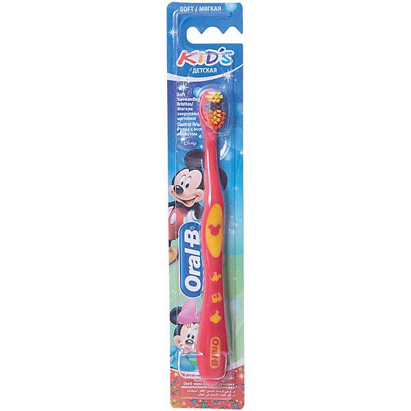 Купить Детская зубная щетка Oral-B Kids от 3 лет мягкая, красно-розовая, Унисекс