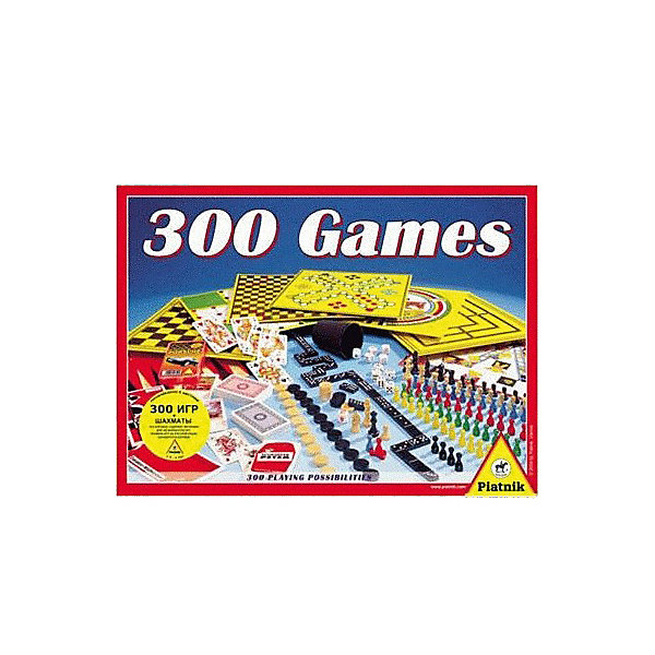 Piatnik Набор логических игр Piantik 300 игр + шахматы набор шахматы