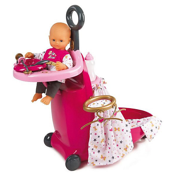 Smoby Игровой набор Smoby Набор для кормления и купания пупса в чемодане Baby Nurse smoby мебель для кукол стульчик для кормления ваby nurse