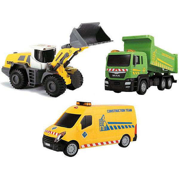 Dickie Toys Набор машинок Dickie Toys Строительная техника, 3 машинки автовоз dickie toys city 28 см 3 машинки цвет в ассортименте