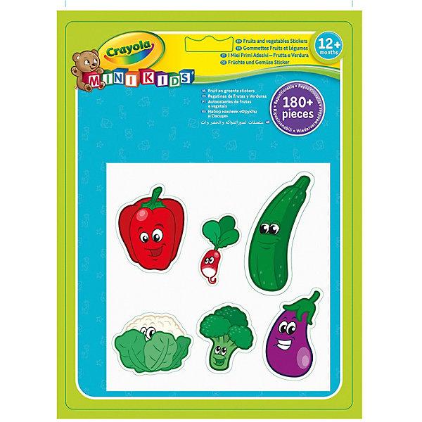 Crayola Набор наклеек Crayola Фрукты и Овощи hape фрукты и овощи деревянные развивающие строительные блоки для раннего детства 120 баррелей более 1 года e8303