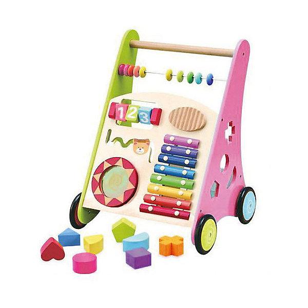 Купить Игровой центр 2 в 1 Kids4kids Мои первые шаги , Китай, зеленый/розовый, Женский