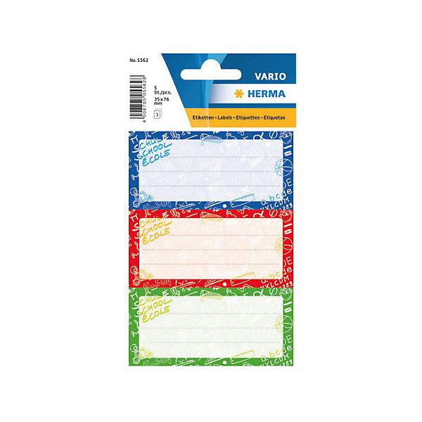 Набор наклеек для тетрадей Herma Vario Школьный миксТетради<br>Характеристики:<br><br>• возраст: от 3 лет<br>• в наборе: 3 листа 9 наклеек<br>• размер: 7,6х3,5 см.<br>• материал: бумага<br><br>Наклейки для подписи тетрадей Herma «Vario» Школьный микс создадут радостное настроение и придадут тетрадям неповторимый дизайн.<br><br>Яркие картинки, украшающие обложки тетрадей, будут предметом гордости маленького ученика. Наклейки станут палочкой-выручалочкой, если тетрадь подписана неверно.<br><br>В тетрадях, украшенных этими наклейками, приятно будет делать уроки, а любой скучный дневник превратиться в яркую копилку хороших оценок.<br><br>Набор наклеек для тетрадей Herma Vario Школьный микс можно купить в нашем интернет-магазине.<br>Ширина мм: 160; Глубина мм: 90; Высота мм: 2; Вес г: 10; Цвет: разноцветный; Возраст от месяцев: 36; Возраст до месяцев: 2147483647; Пол: Унисекс; Возраст: Детский; SKU: 8362449;