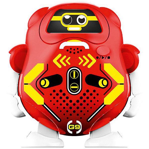 Робот Silverlit Токибот, красныйРоботы<br>Характеристики:<br><br>• возраст: от 3 лет;<br>• материал: пластик, металл;<br>• высота робота: 7,5 см;<br>• время записи: до 100 секунд;<br>• время воспроизведения: 10 часов;<br>• свет и звук: да;<br>• тип батареек: 2хААА;<br>• наличие батареек: не в комплекте;<br>• вес упаковки: 95 гр.;<br>• размер упаковки: 20х16х5 см;<br>• страна бренда: США.<br><br>Робот Silverlit «Токибот» умеет воспроизводить записанное сообщение, изменяя голос до неузнаваемости. Для этого предусмотрено три типа проигрывания: скоростной, тональный и с эффектом речи робота. Режимы воспроизведения можно менять, переключая выражение лица игрушки. Каждый режим регулируется с помощью сенсора на груди робота. Сделано из прочных качественных материалов.<br><br>Робота Silverlit «Токибот» можно купить в нашем интернет-магазине.
