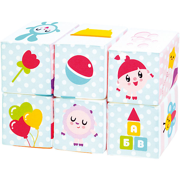 Мякиши Мягкие кубики Мякиши Малышарики Мультики набор из 2 кубиков мякиши чей детеныш в кор 40наб