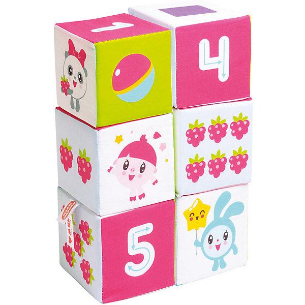 Мякиши Мягкие кубики Мякиши Малышарики Учим Формы, Цвет и Счёт набор из 2 кубиков мякиши чей детеныш в кор 40наб