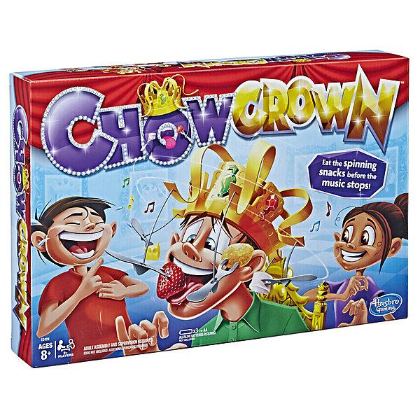 Настольная игра Hasbro Gaming Сумасшедшая коронаДля дошкольников<br>Характеристики товара:<br><br>• возраст: от 8 лет;<br>• материал: пластик, бумага;<br>• количество игроков: от 2 и более;<br>• в комплекте: игровое поле, аксессуары;<br>• для всей семьи;<br>• тип упаковки: картонная коробка;<br>• вес в упаковке: 750 гр;<br>• размер упаковки: 26х40х6;<br>• страна бренда: США.<br><br>Сумасшедшая Корона от Hasbro– лучшая игра для любой вечеринки и компании. Правила игры очень просты. Нужно съесть как можно больше снэков, пока на голове игрока вращается корона и играет королевская песня. Важное правила – игрок не может использовать руки. Побеждает тот игрок, который съест больше всего снэков.