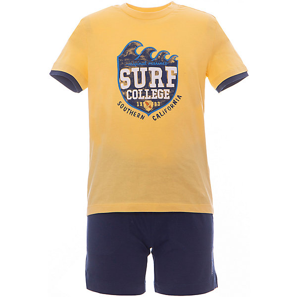 Комплект: футболка,шорты Original Marines для мальчикаКомплекты<br>Комплект: футболка,шорты Original Marines для мальчика<br>Состав:<br>100% хлопок // 100% хлопок<br>Ширина мм: 199; Глубина мм: 10; Высота мм: 161; Вес г: 151; Цвет: желтый; Возраст от месяцев: 18; Возраст до месяцев: 24; Пол: Мужской; Возраст: Детский; Размер: 92,116,104; SKU: 8382099;