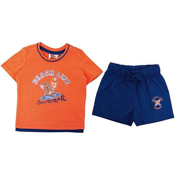 Комплект: футболка,шорты Original Marines для мальчикаКомплекты<br>Характеристики товара:<br><br>• цвет: синий/оранжевый<br>• комплектация: футболка и шорты<br>• состав ткани: 100% хлопок<br>• сезон: лето<br>• особенности модели: спортивный стиль<br>• пояс: резинка на шнурке<br>• кнопки на воротнике<br>• страна бренда: Италия<br>• комфорт и качество<br>• печатный принт<br><br>Яркий комплект из футболки и шорт идеален для активных летних прогулок. Комплект для ребенка сделан из натурального качественного материала. Детский комплект комфортно сидит, не вызывает неудобств. Детская футболка легко надевается благодаря двум кнопкам на воротнике, шорты дополнены эластичной резинкой и шнурком. Итальянский бренд Original Marines - это стильный продуманный дизайн и неизменно высокое качество исполнения. <br><br>Комплект: футболка и шорты Original Marines (Ориджинал Маринс) для мальчика можно купить в нашем интернет-магазине.<br>Ширина мм: 199; Глубина мм: 10; Высота мм: 161; Вес г: 151; Цвет: красный; Возраст от месяцев: 3; Возраст до месяцев: 6; Пол: Мужской; Возраст: Детский; Размер: 62/68,56/62,86,80,68/74; SKU: 8382248;