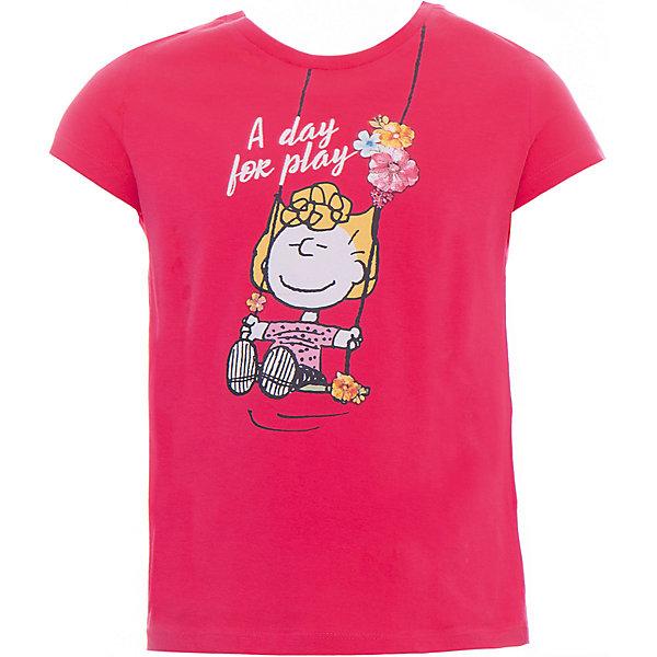 Футболка Original Marines для девочкиФутболки, поло и топы<br>Характеристики товара:<br><br>• цвет: розовый<br>• состав ткани: 100% хлопок <br>• сезон: лето<br>• короткие рукава<br>• украшена принтом <br>• страна бренда: Италия<br><br>Яркая принтованная футболка для девочки - это основа для создания множества вариантов стильных нарядов. Детская футболка сделана из приятного на ощупь материала. Украшенная веселым рисунком, она обязательно понравится вашей малышке. Футболка для детей от итальянского бренда Original Marines - качественная вещь, созданная европейскими дизайнерами.<br><br>Футболку Original Marines (Ориджинал Маринс) для девочки можно купить в нашем интернет-магазине.<br>Ширина мм: 199; Глубина мм: 10; Высота мм: 161; Вес г: 151; Цвет: красный; Возраст от месяцев: 84; Возраст до месяцев: 96; Пол: Женский; Возраст: Детский; Размер: 128,152,140; SKU: 8382364;