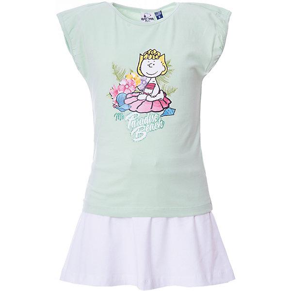 Original Marines Комплект: футболка,юбка Original Marines для девочки комплект одежды для девочки name it футболка юбка цвет белый мятный 13154814 bright white sunny day размер 116