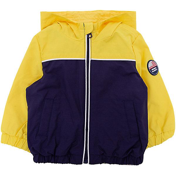 Куртка Original Marines для мальчикаВерхняя одежда<br>Характеристики товара:<br><br>• цвет: желтый;<br>• состав ткани: 55% хлопок, 45% полиамид;<br>• подкладка: 100% полиэстер;<br>• утеплитель: нет;<br>• сезон: демисезон;<br>• температурный режим: от +15 до +20;<br>• особенности модели: с капюшоном;<br>• застежка: молния;<br>• страна бренда: Италия.<br><br>Легкая детская куртка выполнена в яркой модной расцветке. Куртка для ребенка стильно смотрится, она дополнена капюшоном и резинками в рукавах. Детская куртка создает комфортные условия в прохладную погоду и удобно сидит по фигуре. <br><br>Куртку Original Marines (Ориджинал Маринс) для мальчика можно купить в нашем интернет-магазине.<br>Ширина мм: 356; Глубина мм: 10; Высота мм: 245; Вес г: 519; Цвет: темно-синий; Возраст от месяцев: 0; Возраст до месяцев: 3; Пол: Мужской; Возраст: Детский; Размер: 56/62,86,80,68/74,62/68; SKU: 8382406;