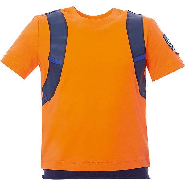 Футболка Original Marines для мальчикаФутболки, поло и топы<br>Характеристики товара:<br><br>• цвет: оранжевый<br>• пол: мальчик<br>• состав ткани: 100% хлопок <br>• сезон: лето<br>• короткие рукава<br>• оригинальный крой<br>• печатный принт <br>• страна бренда: Италия<br><br>Принтованная футболка для мальчика - это основа для создания множества вариантов стильных нарядов. Детская футболка сделана из приятного на ощупь материала. Изюменкой этой модели является оригинальный крой и расцветка, она обязательно понравится вашему юному моднику. Футболка для детей от итальянского бренда Original Marines - качественная вещь, созданная европейскими дизайнерами.<br><br>Футболку Original Marines (Ориджинал Маринс) для мальчика можно купить в нашем интернет-магазине.<br>Ширина мм: 199; Глубина мм: 10; Высота мм: 161; Вес г: 151; Цвет: красный; Возраст от месяцев: 84; Возраст до месяцев: 96; Пол: Мужской; Возраст: Детский; Размер: 128,152,140; SKU: 8382848;