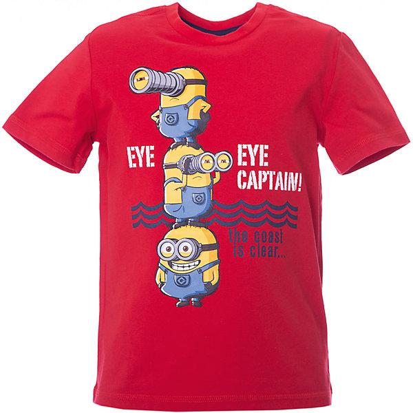 Футболка Original Marines для мальчикаФутболки, поло и топы<br>Характеристики товара:<br><br>• цвет: белый;<br>• состав ткани: 100% хлопок;<br>• сезон: лето;<br>• короткие рукава;<br>• страна бренда: Италия.<br><br>Хлопковая футболка для детей от итальянского бренда Original Marines - качественная стильная вещь, созданная европейскими дизайнерами. Эта футболка для ребенка украшена ярким принтом с миньонами, которых так любят дети. Детская хлопковая футболка станет универсальной вещью для летнего гардероба ребенка. <br><br>Футболку Original Marines (Ориджинал Маринс) для мальчика можно купить в нашем интернет-магазине.<br>Ширина мм: 199; Глубина мм: 10; Высота мм: 161; Вес г: 151; Цвет: красный; Возраст от месяцев: 36; Возраст до месяцев: 48; Пол: Мужской; Возраст: Детский; Размер: 104,92,116; SKU: 8383478;