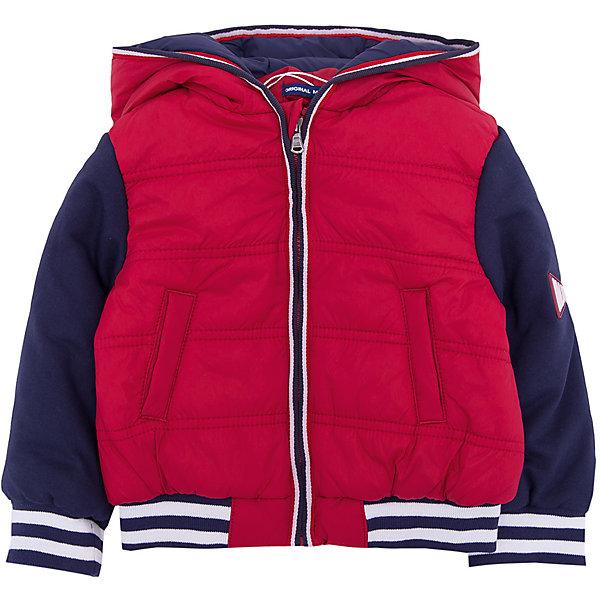 Куртка Original Marines для мальчикаВерхняя одежда<br>Характеристики товара:<br><br>• цвет: красный/синий;<br>• ткань верха: полиамид 94%, акрил 6%;<br>• наполнитель (волокно): полиэстер 100%;<br>• подкладка: полиэстер 100%;<br>• сезон: демисезон;<br>• температурный режим: от +10°С;<br>• капюшон;<br>• застежка: на молнии;<br>• тип куртки: стеганая;<br>• страна бренда: Италия.<br><br>Модная детская куртка Original Marines , выполненная в ярком сочетании цветов, может стать отличным вариантом удобной одежды для прохладной погоды. Куртка в спортивном стиле, благодаря эластичной утяжке, комфортно сидит по фигуре. Современный дизайн и комфорт непримерно понравятся вашему ребенку. <br><br>Куртку Original Marines (Ориджинал Маринс) для мальчика можно купить в нашем интернет-магазине.<br>Ширина мм: 356; Глубина мм: 10; Высота мм: 245; Вес г: 519; Цвет: бордовый; Возраст от месяцев: 12; Возраст до месяцев: 15; Пол: Мужской; Возраст: Детский; Размер: 80,68/74,62/68,56/62,86; SKU: 8383761;