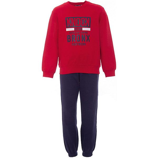 Спортивный костюм Original Marines для мальчикаСпортивная одежда<br>Характеристики товара:<br><br>• цвет: красный/синий<br>• комплектация: толстовка  и брюки<br>• состав ткани: 100% хлопок<br>• длинные рукава<br>• пояс: резинка<br>• особенности модели: спортивный стиль<br>• сезон: круглый год<br>• страна бренда: Италия<br><br>Толстовка и брюки из этого комплекта выполнены из натурального хлопка.  Толстовка дополнена оригинальным принтом. Удобный детский спортивный костюм от известного бренда  Original Marines (Ориджинал Маринс) выглядит аккуратно и стильно. Модный комплект - отличный вариант одежды для отдыха и занятий спортом.<br><br>Для производства детской одежды популярный бренд  Original Marines (Ориджинал Маринс) использует только качественную фурнитуру и материалы. Оригинальные и модные вещи от  Original Marines (Ориджинал Маринс) неизменно привлекают внимание и нравятся детям.<br><br>Спортивный костюм для мальчика Original Marines (Ориджинал Маринс)  можно купить в нашем интернет-магазине.<br>Ширина мм: 247; Глубина мм: 16; Высота мм: 140; Вес г: 225; Цвет: розовый; Возраст от месяцев: 84; Возраст до месяцев: 96; Пол: Мужской; Возраст: Детский; Размер: 128,140; SKU: 8383775;