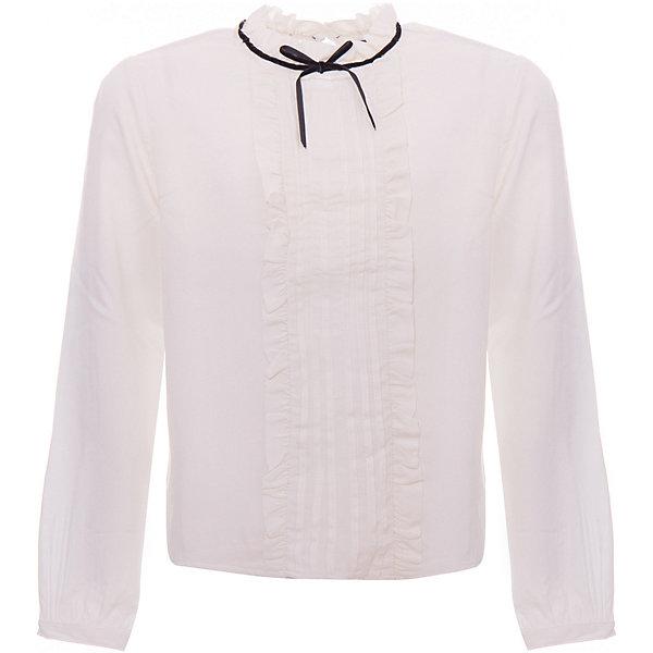 Блузка Original Marines для девочкиБлузки и рубашки<br>Характеристики товара:<br><br>• цвет: молочный<br>• пол: девочка<br>• состав: 100% вискоза<br>• с длинными рукавами<br>• украшена рюшами<br>• бантик на воротнике<br>• страна бренда: Италия<br><br>Блузка для девочки выполнена из натурального гипоаллергенного материала, приятного на ощупь. Оригинальная базовая вещь отлично сочетается с большим количеством одежды. Идеальный вариант для школы. Необычный крой и аксессары добавляют вещи индивидуальности.<br><br>Итальянский бренд Original Marines - это стильный продуманный дизайн и неизменно высокое качество исполнения. <br><br>Блузку Original Marines (Ориджинал Маринс) для девочки можно купить в нашем интернет-магазине.<br>Ширина мм: 215; Глубина мм: 88; Высота мм: 191; Вес г: 336; Цвет: бежевый; Возраст от месяцев: 84; Возраст до месяцев: 96; Пол: Женский; Возраст: Детский; Размер: 128,140; SKU: 8384155;