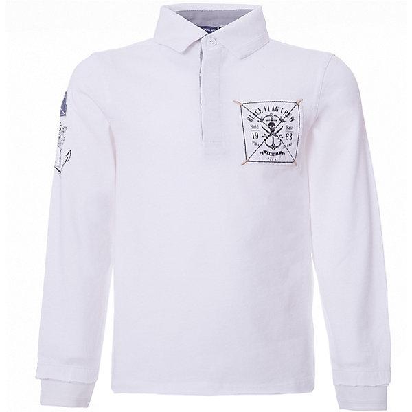 Футболка поло с длинным рукавом Original Marines для мальчикаФутболки с длинным рукавом<br>Характеристики товара:<br><br>• цвет: белый<br>• состав ткани: 100% хлопок<br>• сезон: лето<br>• тип: поло<br>• длинные рукава<br>• печатный принт<br>• страна бренда: Италия<br><br>Белая футболка-поло для мальчика - идеальный вариант для летних прогулок. Сделана из натурального качественного материала, комфортно сидит, не вызывает неудобств. Детская футболка легко надевается и снимается, благодаря пуговицам спереди на воротнике. Такая футболка-поло будет хорошо сочетаться с другими предметами гардероба.<br><br>Итальянский бренд Original Marines - это стильный продуманный дизайн и неизменно высокое качество исполнения. <br><br>Футболку-поло Original Marines (Ориджинал Маринс) для мальчика можно купить в нашем интернет-магазине.<br>Ширина мм: 199; Глубина мм: 10; Высота мм: 161; Вес г: 151; Цвет: белый; Возраст от месяцев: 84; Возраст до месяцев: 96; Пол: Мужской; Возраст: Детский; Размер: 128,140; SKU: 8384282;
