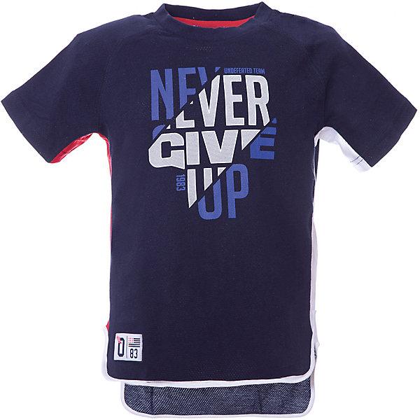 Футболка Original Marines для мальчикаФутболки, поло и топы<br>Характеристики товара:<br><br>• цвет: синий<br>• состав ткани: 100% хлопок <br>• сезон: лето<br>• короткие рукава<br>• принт, нашивки<br>• оригинальный крой<br>• страна бренда: Италия<br><br>Принтованная футболка для мальчика - это основа для создания множества вариантов стильных нарядов. Детская футболка сделана из приятного на ощупь материала. Украшенная ярким принтом, она обязательно понравится вашему юному моднику. Особенностью данной модели является оригинальный крой. Футболка для детей от итальянского бренда Original Marines - качественная вещь, созданная европейскими дизайнерами.<br><br>Футболку Original Marines (Ориджинал Маринс) для мальчика можно купить в нашем интернет-магазине.<br>Ширина мм: 199; Глубина мм: 10; Высота мм: 161; Вес г: 151; Цвет: черный; Возраст от месяцев: 108; Возраст до месяцев: 120; Пол: Мужской; Возраст: Детский; Размер: 140,128; SKU: 8384342;