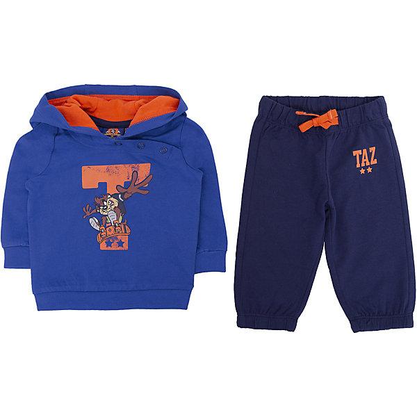 Спортивный костюм Original Marines для мальчикаСпортивная одежда<br>Характеристики товара:<br><br>• цвет: голубой/синий<br>• комплектация: толстовка  и брюки<br>• состав ткани: 100% хлопок<br>• длинные рукава<br>• пояс: резинка<br>• особенности модели: спортивный стиль<br>• сезон: круглый год<br>• страна бренда: Италия<br><br>Толстовка и брюки из этого комплекта выполнены из натурального хлопка.  Толстовка дополнена капюшоном и оригинальным принтом. Удобный детский спортивный костюм от известного бренда  Original Marines (Ориджинал Маринс) выглядит аккуратно и стильно. Модный комплект - отличный вариант одежды для отдыха и занятий спортом.<br><br>Для производства детской одежды популярный бренд  Original Marines (Ориджинал Маринс) использует только качественную фурнитуру и материалы. Оригинальные и модные вещи от  Original Marines (Ориджинал Маринс) неизменно привлекают внимание и нравятся детям.<br><br>Спортивный костюм для мальчика Original Marines (Ориджинал Маринс)  можно купить в нашем интернет-магазине.<br>Ширина мм: 247; Глубина мм: 16; Высота мм: 140; Вес г: 225; Цвет: голубой; Возраст от месяцев: 0; Возраст до месяцев: 3; Пол: Мужской; Возраст: Детский; Размер: 56/62,62/68,86,80,68/74; SKU: 8384536;