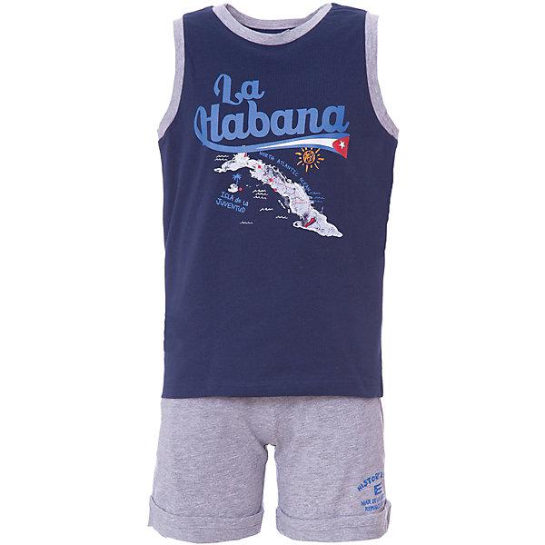 Комплект:футболка , шорты Original Marines для мальчикаКомплекты<br>Характеристики товара:<br><br>• цвет: синий/серый<br>• комплектация: майка и шорты<br>• состав ткани: 100% хлопок <br>• сезон: лето<br>• особенности модели: спортивный стиль<br>• пояс: резинка<br>• страна бренда: Италия<br>• комфорт и качество<br>• печатный принт<br><br>Детский комплект обеспечит ребенку комфорт, благодаря продуманному крою. Комплект для ребенка сделан из натурального качественного материала. Детский комплект комфортно сидит, не вызывает неудобств. Итальянский бренд Original Marines - это стильный продуманный дизайн и неизменно высокое качество исполнения. Парадуйте своего малыша ярким комплектом для активных летних прогулок.<br><br>Комплект: майка и шорты Original Marines (Ориджинал Маринс) для мальчика можно купить в нашем интернет-магазине.<br>Ширина мм: 199; Глубина мм: 10; Высота мм: 161; Вес г: 151; Цвет: синий; Возраст от месяцев: 108; Возраст до месяцев: 120; Пол: Мужской; Возраст: Детский; Размер: 140,128; SKU: 8384861;