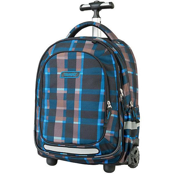 Рюкзак-тележка школьный Target Collection Allover 3Ранцы<br>Характеристики:<br><br>• возраст от: 6 лет;<br>• цвет: черный/принт;<br>• материал: полиэстер;<br>• размер: 50х32х20 см.;<br>• объем рюкзака: большой ( более 30 л.);<br>• вес рюкзака: 1,9 кг.;<br>• тип рюкзака: тележка;<br>• наполнение: органайзер для принадлежностей;<br>• ососбенности: выдвижная ручка, на колесах, на ножках;<br>• спинка: воздухопроницаемая;<br>• тип застёжки: молния;<br>• количество отделений: 2 основных отделения.;<br>• количество карманов: 2 внешних/ 2 внутренних/ 2 боковых;<br>• эргономичная ручка для переноски;<br>• прочное пластиковое дно;<br>• износостойкая обивка выдержит любую погоду и прослужит не один год;<br>• регулируемые укрепленные лямки;<br>• стильный дизайн;<br>• бренд, страна бренда: Target Collection, Словения.<br><br>Детский рюкзак-тележка ALLOVER 3 от Target Collection выполнен из высококачественного полиэстера. Модель оснащена двумя колесами и ножками, а также телескопической ручкой, которая может быть изъята из рюкзака. Фигурные лямки содержат вентиляционные отверстия и тем самым, имея возможность дышать. Они дополняются специальной ЭКО-пеной, которая делает ношение рюкзака более комфортным для ребенка. Рюкзак содержит 2 больших отделения, закрывающегося на молнию. На лицевой стороне рюкзака расположен большой накладной карман, так же на молнии. Боковые карманы на резинке удобно использовать для бутылок. Светоотражающий материал присутствует на передней, боковой и задней части рюкзака, что позволяет сделать вашего ребенка более заметным, а так же обезопасить его не только днем, но и ночью. <br><br>В настоящее время - это самый современный рюкзак-тележка в мире. Модель выполнена в черном цвете с оригинальным принтом, рюкзак-тележка станет надежным, практичным и функциональным спутником во время путешествий. Также вместительный рюкзак-тележка подойдет для школы и спортивных секций.<br><br>Детский рюкзак-тележку ALLOVER 3  от Target Collection, черный/принт, можно купить