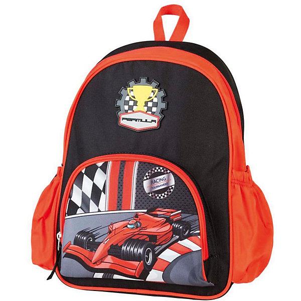 Детский рюкзак Target Collection Формула 1Детские рюкзаки<br>Характеристики:<br><br>• возраст от: 6 лет;<br>• цвет: черный/красный;<br>• материал: полиэстер;<br>• размер: 34х28х12 см.;<br>• объем рюкзака: малый ( до 10 л.);<br>• вес рюкзака: 280 гр.;<br>• тип рюкзака: универсальный;<br>• тип застёжки: молния;<br>• количество отделений: 1;<br>• количество внешних карманов: 3;<br>• петля для подвешивания;<br>• износостойкая обивка;<br>• широкие регулируемые лямки;<br>• стильный дизайн;<br>• бренд, страна бренда: Target Collection, Словения.<br><br>Рюкзак малый Формула 1 от Target Collection для мальчика - это красивый и удобный аксессуар, который станет незаменимым спутником вашего ребенка на прогулках и путешествиях. В него легко уместятся любимые игрушки и полезные мелочи.<br><br>Модель оформлена ярким детским принтом и изготовлена из современных, прочных материалов. Состоит из одного отделения, закрывающегося на молнию. На лицевой стороне рюкзака расположен большой накладной карман, закрывающийся на застежку-молнию, а по бокам рюкзака два кармана на резинке. Бегунки на застежках дополнены удобными тканевыми держателями. Рюкзак снабжен регулируемыми по длине плечевыми ремнями и ручкой для переноски в руке.<br><br>Рюкзак малый Формула 1 от Target Collection для мальчика, черный/красный, можно купить в нашем интернет-магазине.<br>Ширина мм: 340; Глубина мм: 280; Высота мм: 120; Вес г: 280; Цвет: черный/розовый; Возраст от месяцев: 72; Возраст до месяцев: 192; Пол: Мужской; Возраст: Детский; SKU: 8392235;