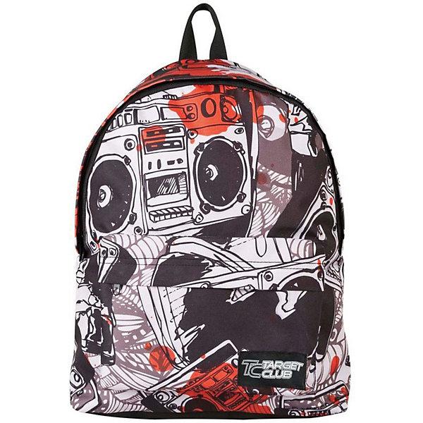 Рюкзак Target Collection MusicРюкзаки<br>Характеристики:<br><br>• возраст от: 6 лет;<br>• цвет: белый/черный;<br>• материал: полиэстер;<br>• размер: 43х31х18 см.;<br>• объем рюкзака: средний ( 20-30 л.);<br>• вес рюкзака: 700 гр.;<br>• тип рюкзака: универсальный;<br>• спинка: жесткая;<br>• тип застёжки: молния;<br>• количество отделений: 1 отделение;<br>• количество карманов: 1 внешний;<br>• ручка в верхней части;<br>• прочное и устойчивое дно;<br>• износостойкая обивка;<br>• регулируемые лямки;<br>• стильный дизайн;<br>• бренд, страна бренда: Target Collection, Словения.<br><br>Молодежный рюкзак MUSIC от Target Collection - это практичный и стильный аксессуар, который подчеркнет индивидуальность вашего ребенка. Рюкзак имеет яркий оригинальный принт и изготовлен из современных, прочных материалов. <br><br>У данной модели одно большое  отделения, которое закрывается  на молнию. На внешней стороне рюкзака расположен большой накладной карман  на молнии. Бегунки на застежках дополнены удобными тканевыми держателями. Снабжен плечевыми лямками, которые можно отрегулировать. Ручка из плотной ткани  в верхней части рюкзака сделает ношение в руке более удобным и комфортным. <br><br>Молодежный рюкзак MUSIC от Target Collection, белый/черный, можно купить в нашем интернет-магазине.<br>Ширина мм: 430; Глубина мм: 310; Высота мм: 180; Вес г: 700; Цвет: черный/белый; Возраст от месяцев: 72; Возраст до месяцев: 192; Пол: Унисекс; Возраст: Детский; SKU: 8392303;