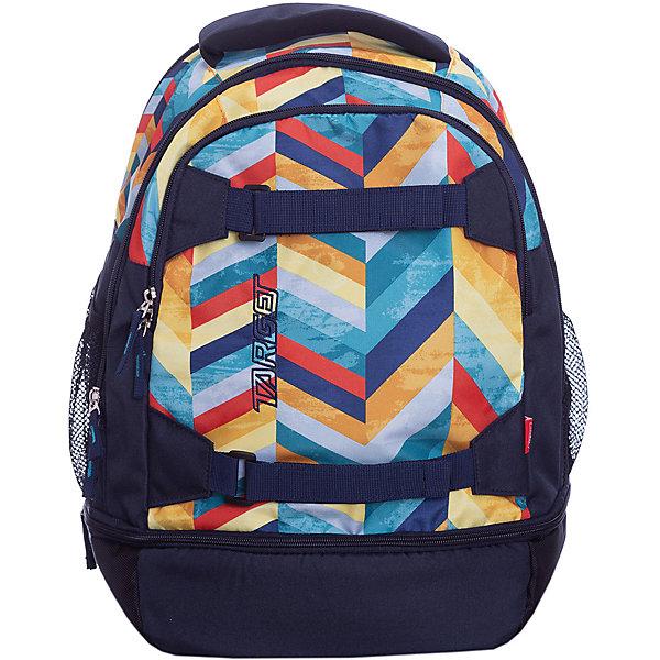 Рюкзак Target Collection Spectrum 3Рюкзаки<br>Характеристики:<br><br>• возраст от: 6 лет;<br>• цвет: синий;<br>• материал: полиэстер;<br>• размер: 47х30х20 см.;<br>• объем рюкзака: средний ( 29 л.);<br>• вес рюкзака: 900 гр.;<br>• тип рюкзака: универсальный;<br>• ремни для скейтборда;<br>• отделение для ноутбука;<br>• карманы с сеткой;<br>• спинка: мягкая;<br>• тип застёжки: молния;<br>• количество отделений: 2 отделения;<br>• количество карманов: 3 внешних;<br>• плотная ручка в верхней части;<br>• усиленное дно;<br>• износостойкая обивка;<br>• регулируемые анатомические лямки;<br>• стильный дизайн;<br>• светоотражающие вставки;<br>• бренд, страна бренда: Target Collection, Словения.<br><br>Городской рюкзак SPECTRUM - 3 от Target Collection создан для того, чтобы обеспечить активный и современный образ жизни. Рюкзак содержит два внутренних отделения, карман на лицевой стороне и два боковых кармана-сетки. Вмещает в себя ноутбук диагональю 15 дюймов. Рюкзак имеет мягкую заднюю панель, регулируемые мягкие плечевые ремни и застежку между ними. Прочная верхняя ручка позволяет носить рюкзак в руке. Универсальные внутренние карманы. На дне есть карман на молнии. Вмещает 29 литров. Главное отличие – наличие ремней для крепления скейтборда.<br><br>Вместительный рюкзак подходит для школы, а также для занятий спортом и проведения досуга. Рюкзак выполнен из высококачественного и водонепроницаемого материала. Данная модель выполнена в практичном сочетании цветов, имеет прекрасную эргономику и инновационный стильный дизайн.<br><br>Городской рюкзак SPECTRUM -3 от Target Collection, синий, можно купить в нашем интернет-магазине.<br>Ширина мм: 470; Глубина мм: 300; Высота мм: 200; Вес г: 900; Цвет: синий; Возраст от месяцев: 72; Возраст до месяцев: 192; Пол: Унисекс; Возраст: Детский; SKU: 8392379;